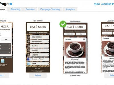 Presence Builder – Mobile Friendly Location Page